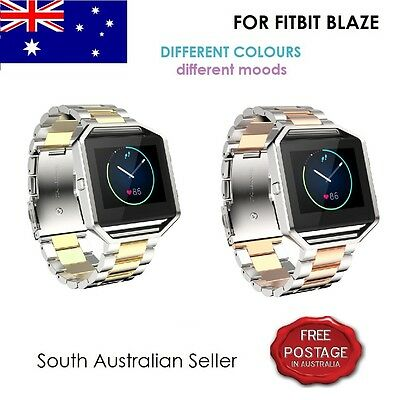 AU15 • Buy FITBIT BLAZE Stainless Steel Wrist Band Strap & Frame For FITBIT BLAZE SA SELLER