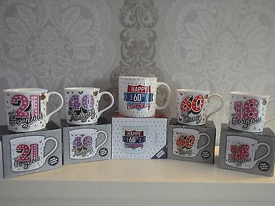 £7.19 • Buy Happy Birthday Mugs 18th 21st 40th 60th 80th Gorgeous Gift Boxed Celebration