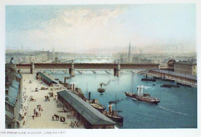 £10.99 • Buy OLD ANTIQUE PRINT GLASGOW BROOMIELAW SCOTLAND RIVER VIEW C1890's STEAM SHIPS