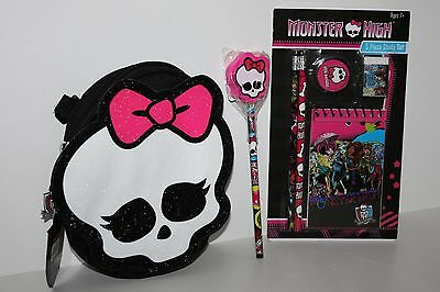 Monster High Pencil Case, Study Set And Pencil Lot • 12.57£