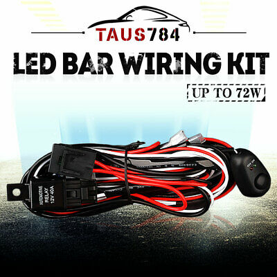 $9.55 • Buy 10ft LED Light Bar Wiring Harness Kit 12V Fuse Relay ON/OFF Switch-2 Lead