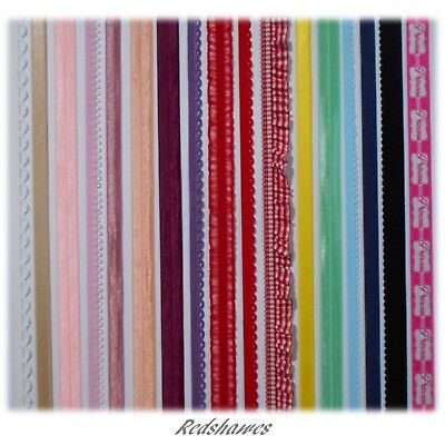ELASTIC Shiny, Plush, Lace, FOE, Loop, Picot, Strap Coloured Headbands Crafts • 17£