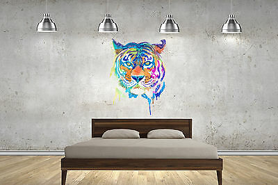 £17.99 • Buy Tiger Watercolour Wall Stickers Wall Art Decals Lounge Bedroom Children Adult