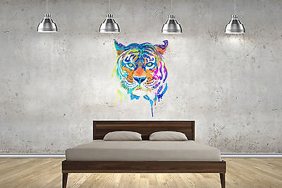 Tiger Watercolour Wall Stickers Wall Art Decals Lounge Bedroom Children Adult • 17.99£