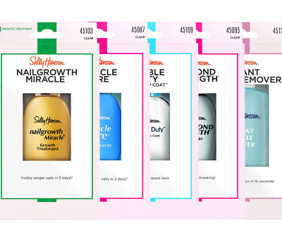 Sally Hansen Nail Care Treatment Nailgrowth Conditioners Strengthener Cuticle • 6.99£