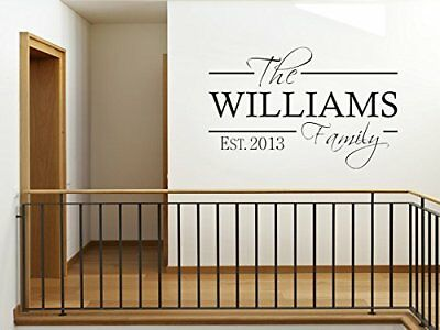 PERSONALISED Family Wall Art Quote & Date, Modern Wall Sticker, Decal, Transfer • 11.95£