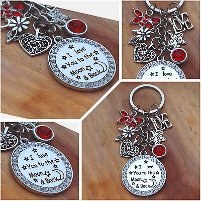 Valantines Day Gift Keyring - I Love You To The Moon & Back • 5.99£