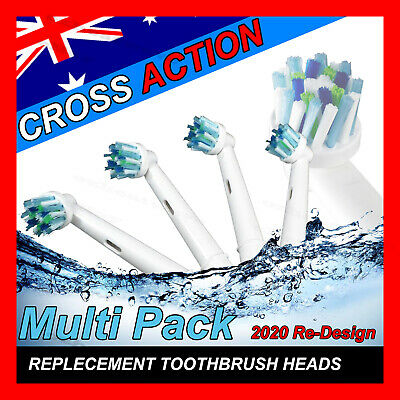 AU11.38 • Buy CROSS ACTION Oral B Compatible Electric Toothbrush Replacement Brush Heads X20