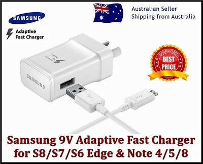 AU16.95 • Buy New Samsung Galaxy Adaptive Fast Wall Charger S6 S7 S8 S9 S10 S20+ NOTE 4 5 8 9