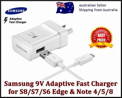 AU5.99 • Buy New Samsung Galaxy Fast AC Wall Charger S6 S7 S8 S9 S10 S20+ NOTE 4 5 8 9