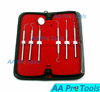 $7.65 • Buy 6 Pcs Dental Scaler Pick Stainless Steel Tools With Inspection Mirror Set/Kit