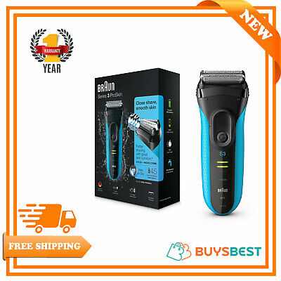 View Details Braun Electric Rechargeable Shaver Razor ProSkin Wet & Dry Mens Shaver 3 Series • 55.99£