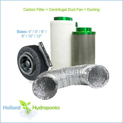AU69.95 • Buy 4/5/6/8/10/12  FILTAROO CARBON FILTER/DUCT FAN/DUCTING Grow Room Ventilation Kit
