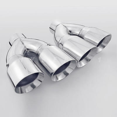 $ CDN245.56 • Buy Pair 3  Inlet QUAD Staggered 4 Inch Out Exhaust Tips For Firebird Camaro LS1 SS