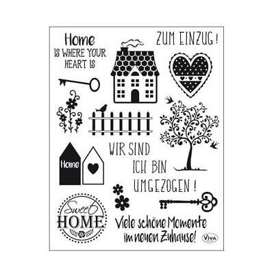 Viva Decor A5 Clear Stamps - Sweet Home #163 • 4.99£