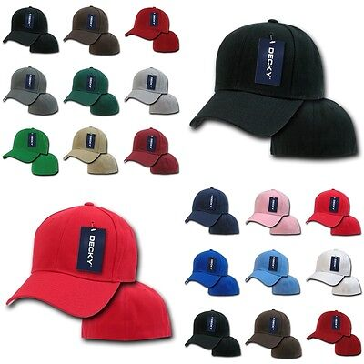 DECKY Plain Blank Fitted Curved Bill 6 Panel Baseball Hat Hats Cap Caps 402  • 6.99 964e104ddeb7