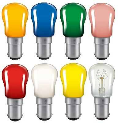Coloured Pygmy 15W SBC B15 Small Bayonet Cap Colour Light Bulb Lamp Sign Lamp • 4.45£