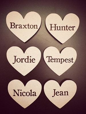 Wooden Personalised Hearts  • 0.99£