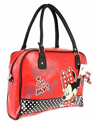 Minnie Mouse Handbag Bowling Bag Faux Red Leather Official Disney Merchandise • 13.99£