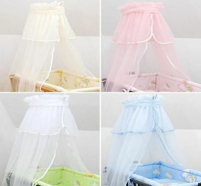 £12.19 • Buy Crown Chiffon Canopy / Drape / Mosquito Net To Fit Crib / Cradle / Moses Basket