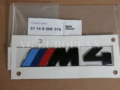 $27.79 • Buy BMW M4 Black Competition Genuine Rear Trunk Emblem  M4  Decal Badge NEW