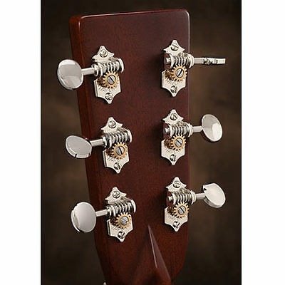$ CDN234.77 • Buy Waverly Guitar Tuners With Vintage Oval Knobs, For Solid Pegheads, Nickel, 3L/3R