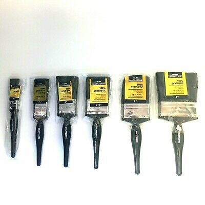 £8.99 • Buy T-CLASS Contractor Paint Brushes 100% Synthetic - Stainless Steel Ferrule