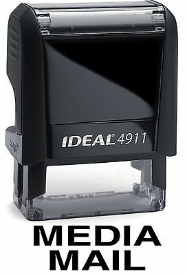 $8.45 • Buy MEDIA MAIL Stamp Text On IDEAL 4911 Self-inking Rubber Stamp With BLACK INK