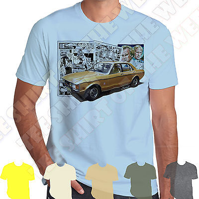 Ford Consul GT The Sweeney Cartoon Strip T-shirt 100% Cotton,  7 Colours  • 7.99£
