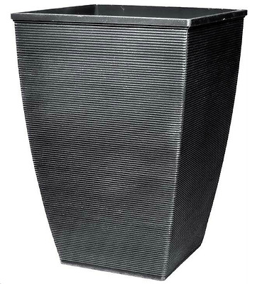 £19.99 • Buy 46.6 Litre Silver Large Plant Pot Square Tall Plastic Planter Outdoor Garden