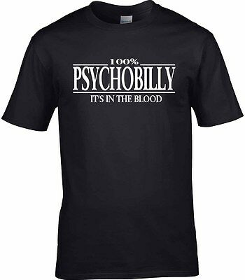 £10.95 • Buy Psychobilly T-Shirt 100% Rockabilly Reunion Party Homage Gift Rock & Roll
