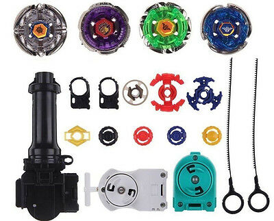 $10.99 • Buy Top Metal Master Fusion Rapidity Fight Beyblade 4D Launcher Grip Set US SELLER