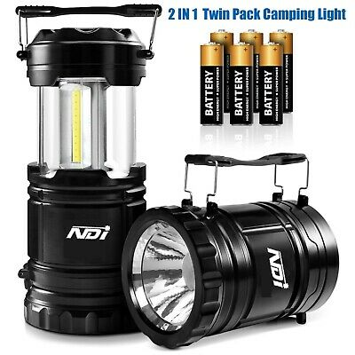 AU19.99 • Buy 2PCS Portable LED Collapsible Camping Lantern Hiking Tent Outdoor Lamp Light