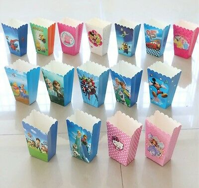 AU9.95 • Buy Popcorn Boxes Lolly Loot Box Kids Party Supplies Party Favours Movie Night