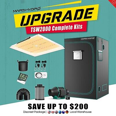 AU869.99 • Buy Mars Hydro TSW 2000W LED Grow Light+Carbon Filter+4'x4' Grow Tent Complete Kit