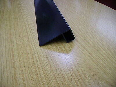 Flat Roof Rubber Membrane Edge Trim - 2.5m & 3.5m Lengths Black /White Permaroof • 21£