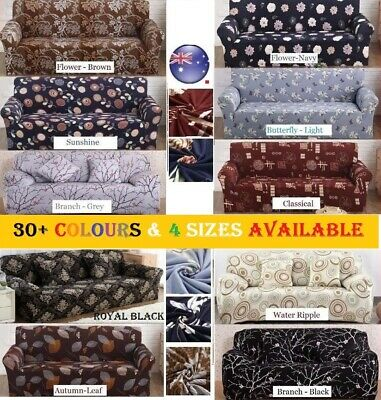 AU25.30 • Buy Stretch Fit Sofa Cover Lounge Couch Easy Removable Slipcover Washable 1/2/3/4