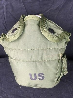 $ CDN7.24 • Buy  US Military 1QT Canteen Cover Pouch LC2 1 Quart OD Green With 2-ALICE Clips EUC