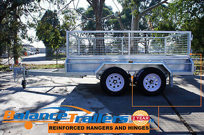 AU3350 • Buy 9x5 HOT DIP GALVANISED FULL WELDED TANDEM TRAILER WITH 600mm REMOVEABLE CAGE