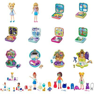 Mattel Polly Pocket Dolls With Accessories Assortment New Models Choose One • 5.99£