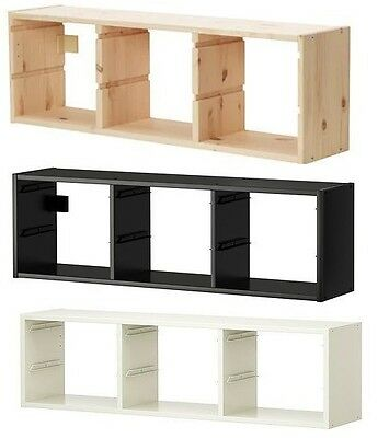 Ikea TROFAST Wall Toys Small Things Storage Unit, Storage Boxes,Pine,Black,White • 34.99£