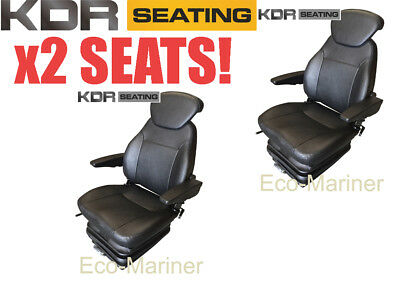£617.49 • Buy Quality Pilot Marine Chair Boat Helm Seat With Armrests PVC Fishing Trawler