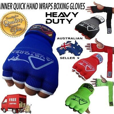 AU9.95 • Buy INNER First Gel Bandages MMA Boxing Inner Quick Hand Wraps Gloves Straps