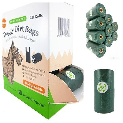 £11.95 • Buy Scot Petshop Eco Dog Waste Bags On A Roll With Easy Tie Handles - 300 Poo Bags