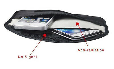 Anti Hackable, Anti Radiation Cell Phone Pouch - Guard Against RFID Spying!  • 7.15£