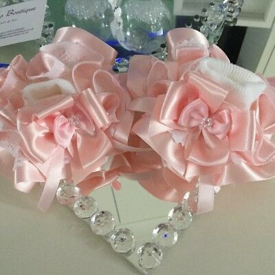 💝Spanish Ruffle Tutu Pearl Lace Frilly Ankle Socks Bow 🎀Jazziejems Boutique ❤️ • 5.69£