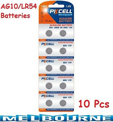 AU112.97 • Buy 10 Pcs AG10 GP189 SR54 LR1130 L1131 1.5V Alkaline Button Cell Battery PKCell #SC