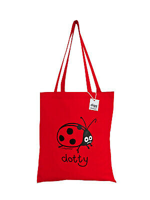 NEW TOTE BAG: LADYBIRD, Jam Red, 100% Cotton • 4.99£
