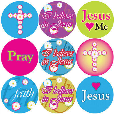 144 I Believe In Jesus 30mm Children's Christian Reward Stickers, Teacher Church • 2.39£