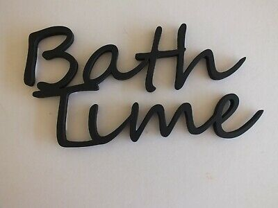 Wooden  Bath Time  Wall Plaque Words/Letters Home/sign Decoration   • 4.99£